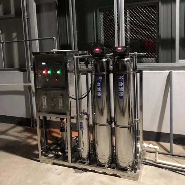 0.5吨水处理反渗透设备安装现场(江苏嘉元乳胶制品有限公司)